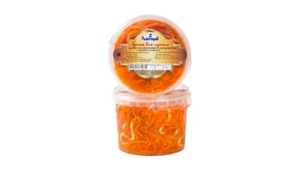 Салат из моркови с кальмаром по-корейски