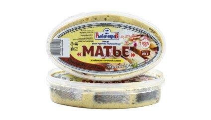 Сельдь Матье Премиум Кусочки в майонезно-горчичной заливке