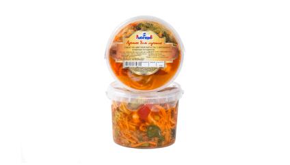 Салат из цветной капусты и брокколи по-корейски