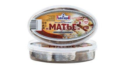 Сельдь Матье Премиум Кусочки в масле с ароматом дыма